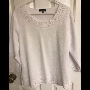 Chances R 3/4 length sleeve Top size Large